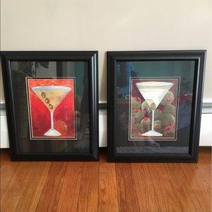🎾 2 Martini Framed Wall Art
